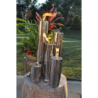 Starlite Patio 11 Inch Polished Manhattan Floor Torch