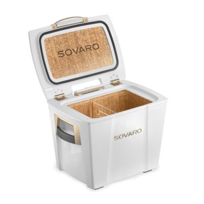 Sovaro 30 Qt. Premium Luxury Cooler - White with Gold Trim