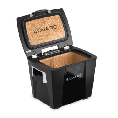 Sovaro 30 Qt. Premium Luxury Cooler - Black with Chrome Trim