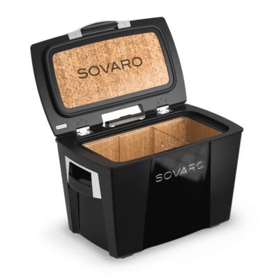 Sovaro 45 Qt. Premium Luxury Cooler - Black with Chrome Trim