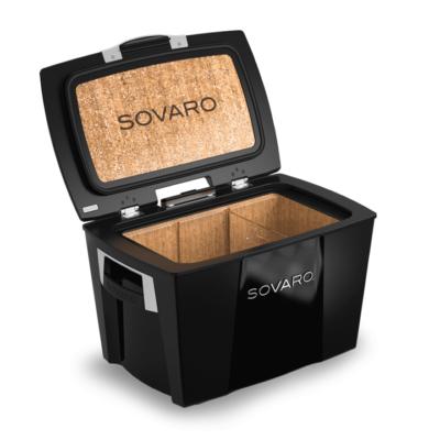 Sovaro 70 Qt. Premium Luxury Cooler - Black with Chrome Trim