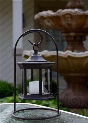 Starlite Patio Solar Lantern Arch Stand Clear Glass