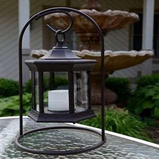 Starlite Patio Clear Glass Arch Stand Solar Lantern