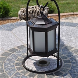 Starlite Patio Frosted Glass Arch Stand Solar Lantern