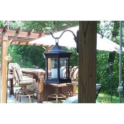 Starlite Patio Clear Glass Solar Lantern Sconce