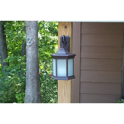 Starlite Patio Frosted Glass Solar Lantern Sconce