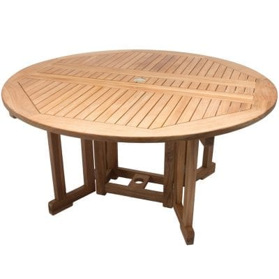 Royal Teak Collection 5' Round Drop leaf Table