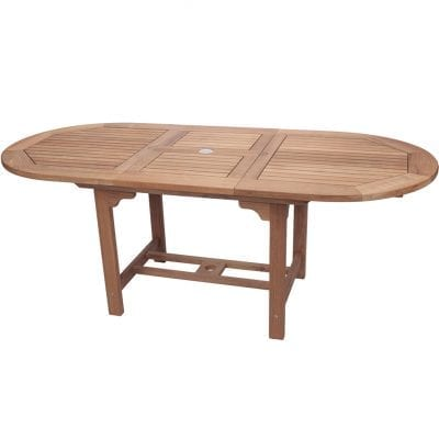 Royal Teak Collection Medium Oval Family Expansion Table