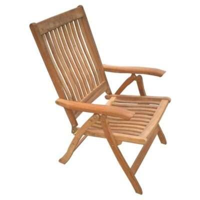 Royal Teak Collection Estate Reclining Lounge Chair - ESFC