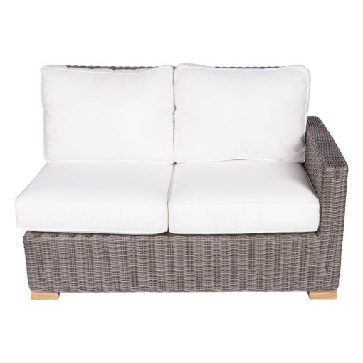 Royal Teak Collection Sanibel Wicker Sectional Two-Seat Left Arm