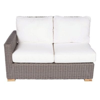 Royal Teak Collection Sanibel Wicker Sectional Two-Seat Right Arm