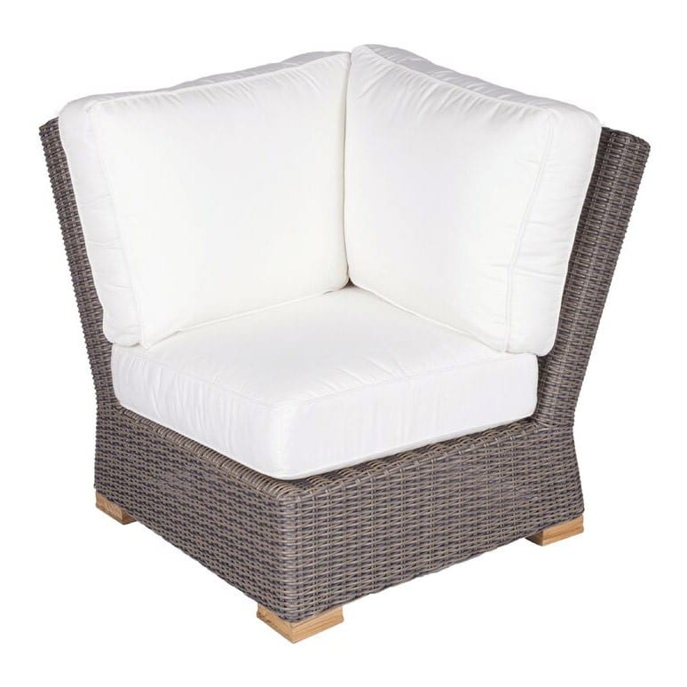 Royal Teak Collection Sanibel Wicker Sectional Couch Corner Section