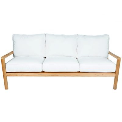 royal teak collection coastal sofa - natural