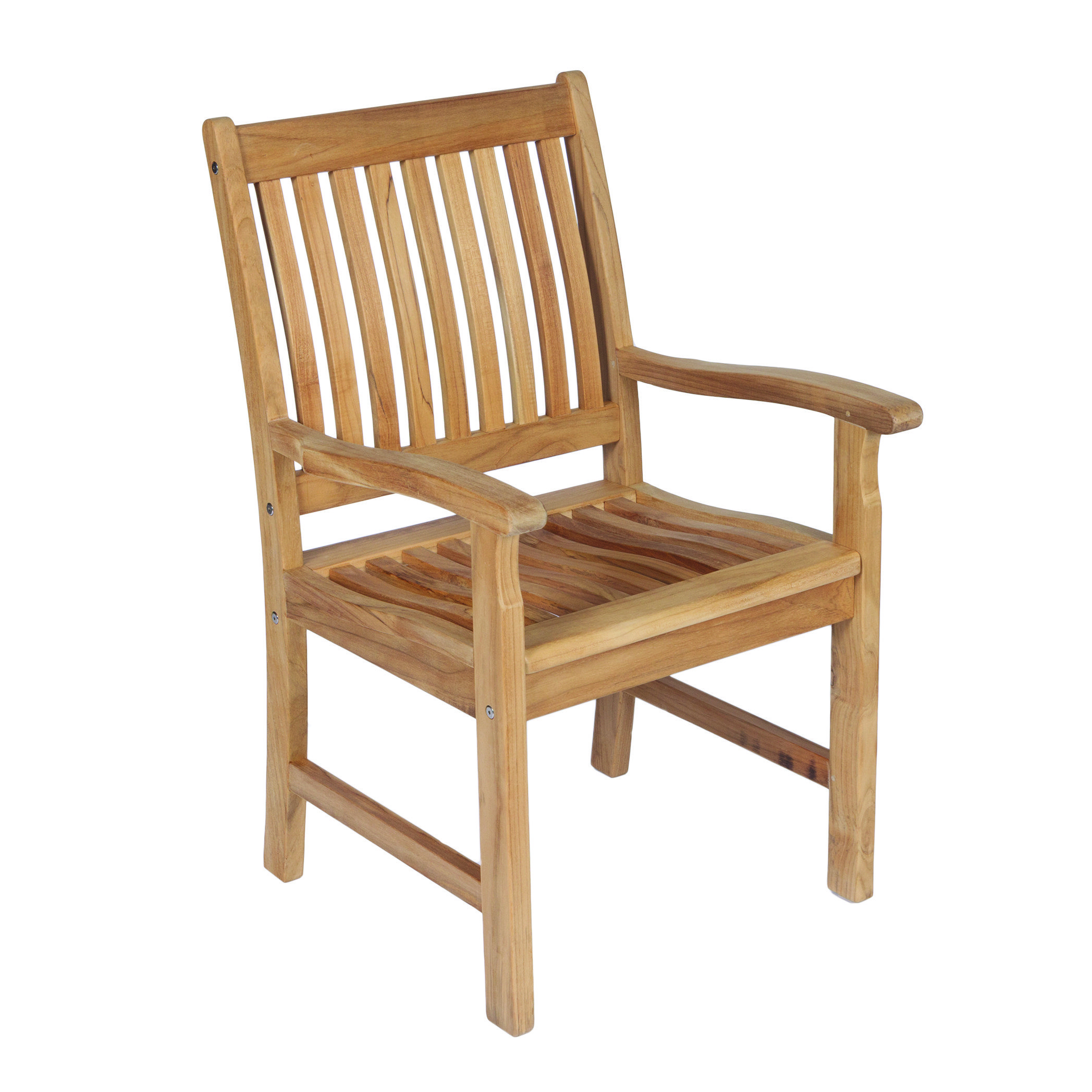 Royal Teak Collection Compass Dining Arm Chair - COMAC