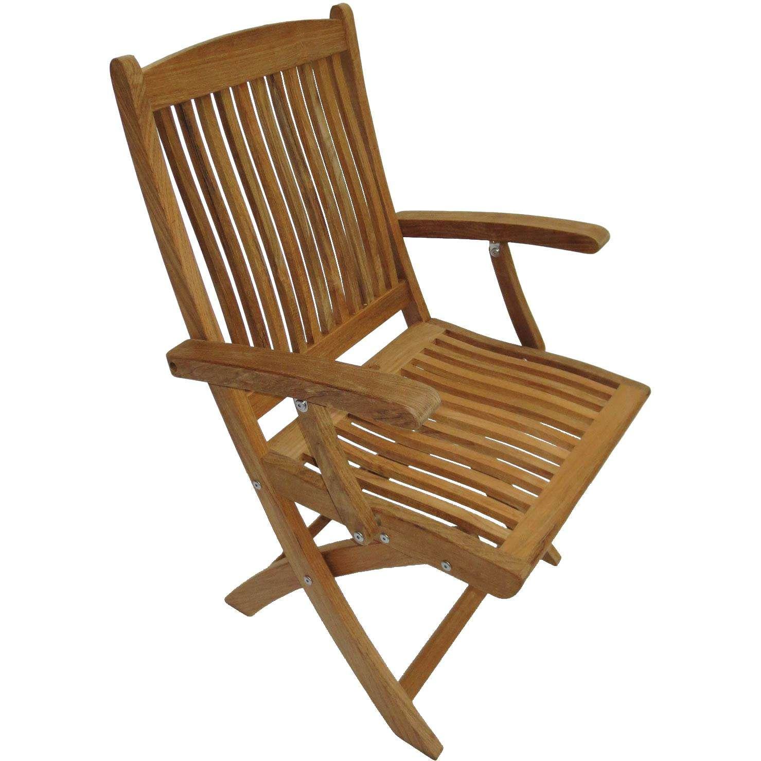 Royal Teak Collection Sailor Folding Arm Chair - SFC