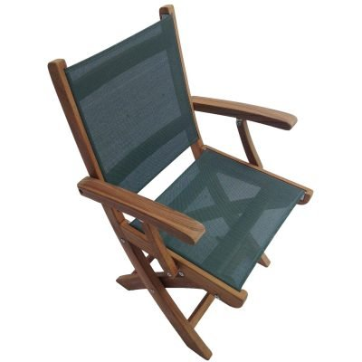 Royal Teak Collection Moss Sailmate Folding Arm Chair – SMCM