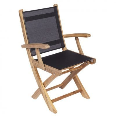 Royal Teak Collection Navy Sailmate Folding Arm Chair