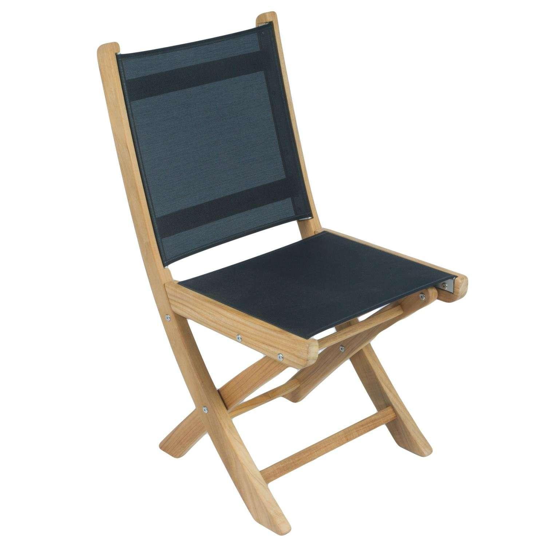 Royal Teak Collection Black Sailmate Folding Side Chair – SMSB