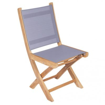 Royal Teak Collection Gray Sailmate Folding Side Chair – SMSG
