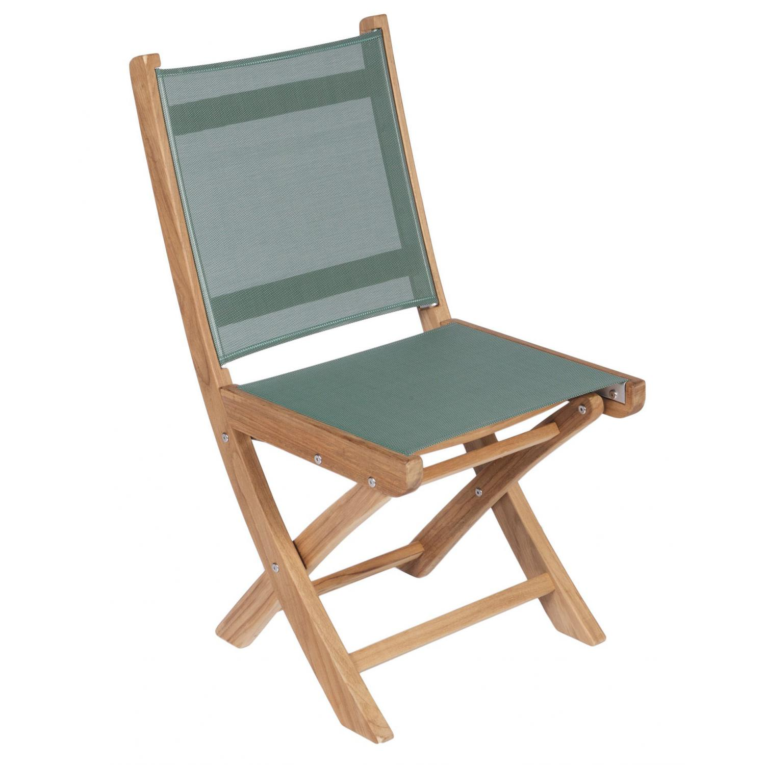 Royal Teak Collection Moss Sailmate Folding Side Chair – SMSM