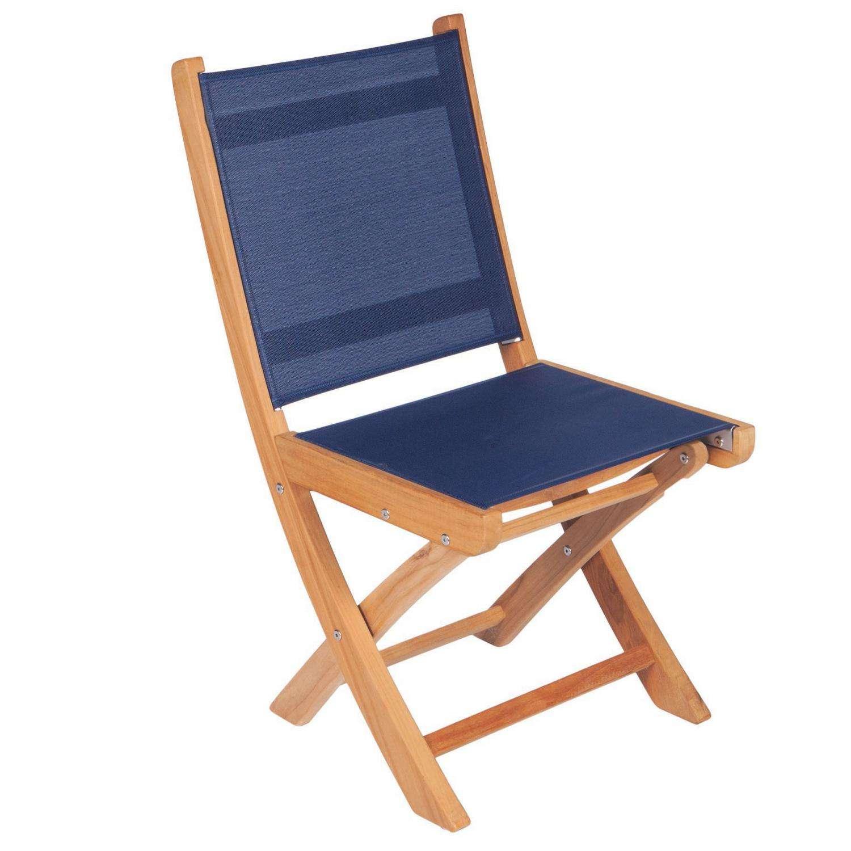 Royal Teak Collection Navy Sailmate Folding Side Chair – SMSN