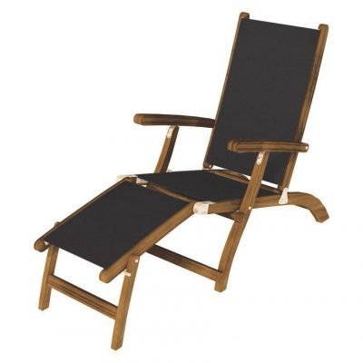 Royal Teak Collection Black Steamer Sling