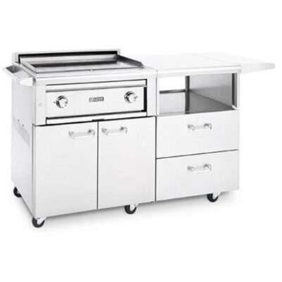 Lynx Asado 30-Inch Kitchen Cart Flat Top Grill
