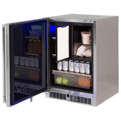 Lynx Professional 24-Inch Right Hinge Refrigerator Freezer Combo