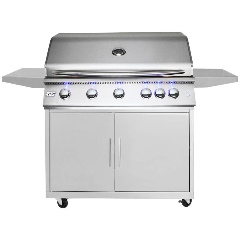 RCS Premier 40-Inch Freestanding Propane Grill Plus Lighting Package