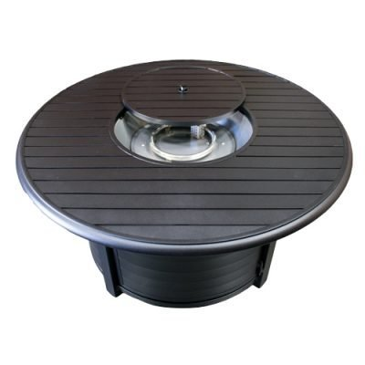 AZ Patio Heaters Round Bronze Slatted Fire Pit