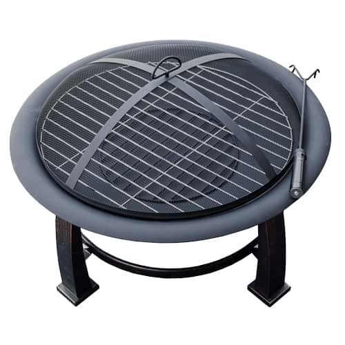 AZ Patio Heaters 30-Inch Wood Burning Cooking Fire Pit