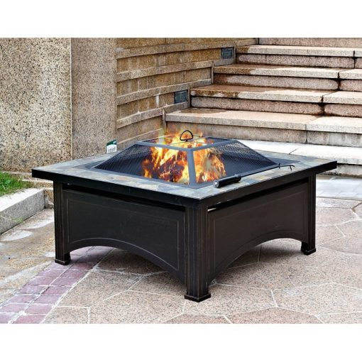 AZ Patio Heaters 36-Inch Wood Burning Slate Top Fire Pit