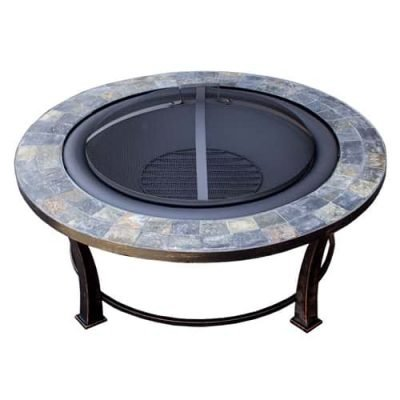 AZ Patio Heaters 40-Inch Wood Burning Slate Top Fire Pit