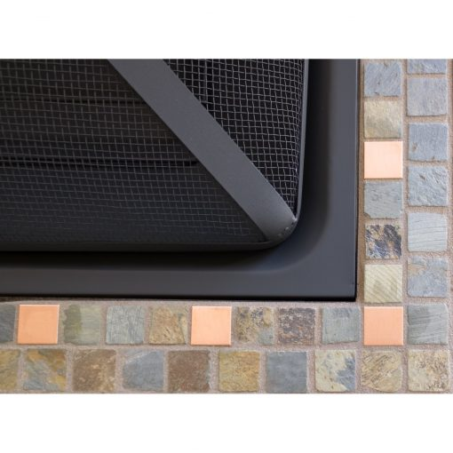 AZ Patio Heaters 30-Inch Wood Burning Slate Tile Fire Pit