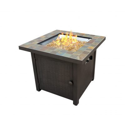 AZ Patio Heaters Square Slate Fire Pit