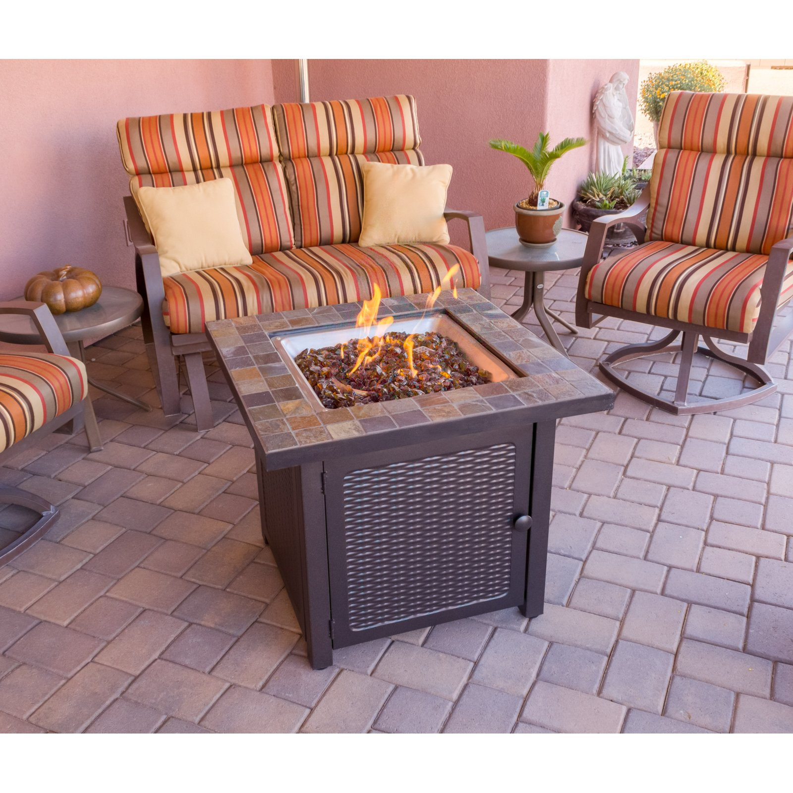 Az Patio Heaters Square Slate Fire Pit The Outdoor Store