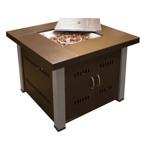 AZ Patio Heaters Bronze and Steel Square Fire Pit