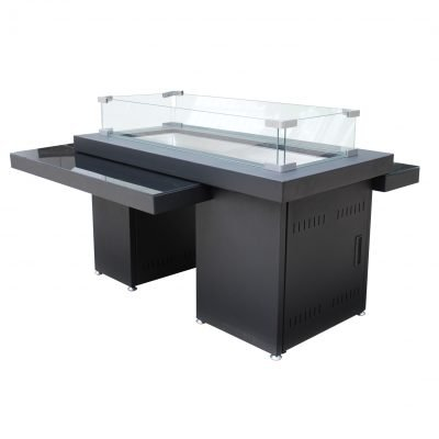 AZ Patio Heaters Two Tiered Glass Top Fire Pit