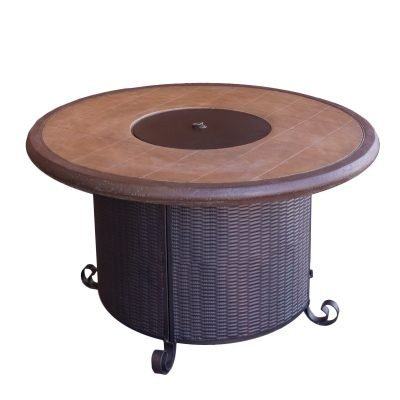 AZ Patio Heaters Round Faux Stone Fire Pit