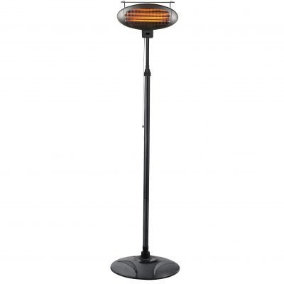 AZ Patio Heaters Black Telescopic Electric Heater