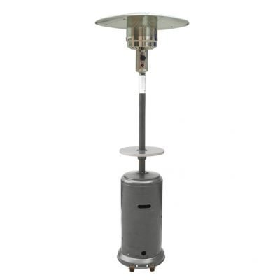 AZ Patio Heaters 87-Inch Hammered Silver Heater