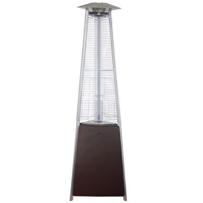AZ Patio Heaters Bronze Glass Tube Natural Gas Heater