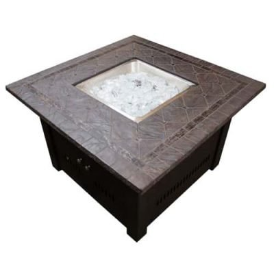 AZ Patio Heaters Square Faux Stone Fire Pit