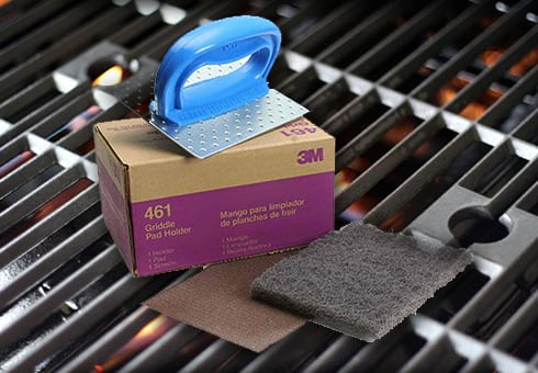 bbq cleaning tools at the outdoor store