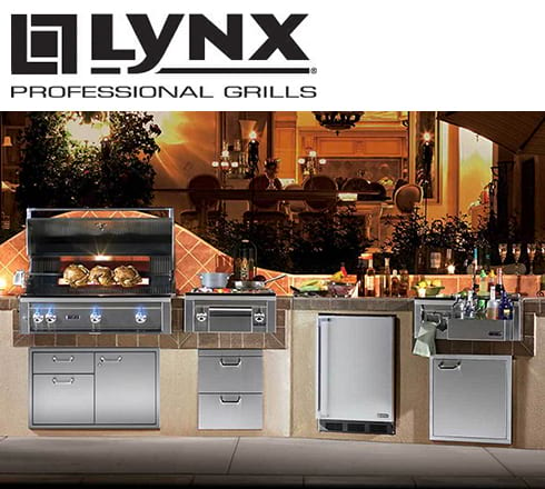 lynx grills at the outdoor store