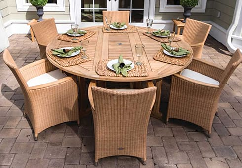 wicker outdoor patio furniture at the outdoor store