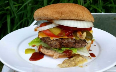 Going Burger Crazy – Beef & Italian Sausage Grilled Pub Burgers