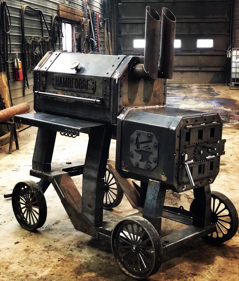 hamrforge the beast reverse smoker and bbq grill
