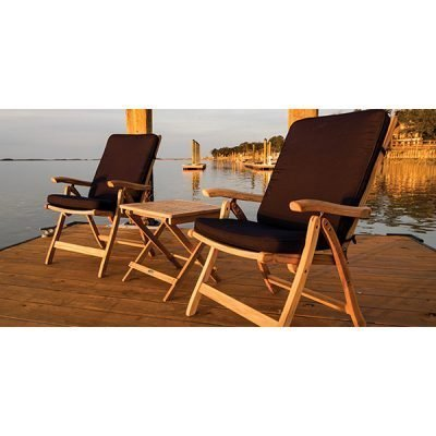 Royal Teak Collection 3-Piece Conversation Set
