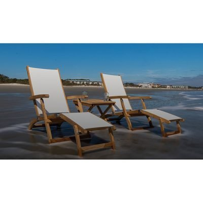Royal Teak Collection 3-Piece Lounger Set